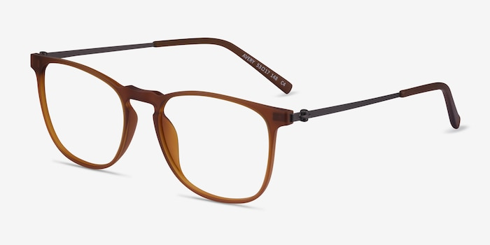 Avery Brown Plastic-metal Eyeglass Frames from EyeBuyDirect, Angle View
