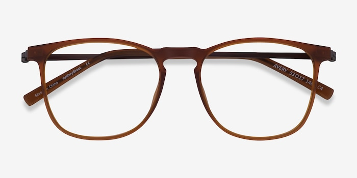 Avery Brown Plastic-metal Eyeglass Frames from EyeBuyDirect, Closed View