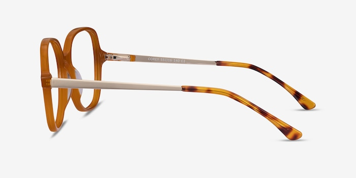 Corey Mellow Yellow Acetate Eyeglass Frames from EyeBuyDirect, Side View