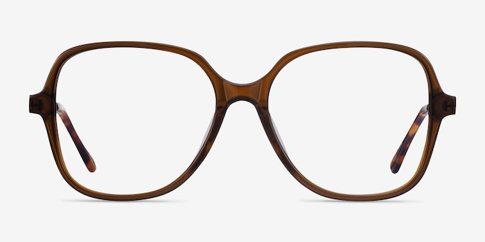 Corey Coffee Acetate-metal Eyeglass Frames from EyeBuyDirect, Front View