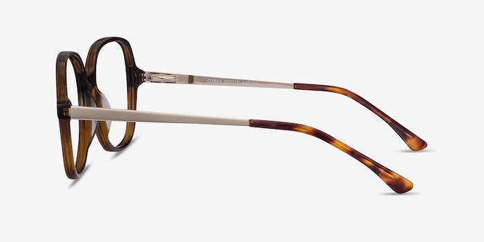 Corey Coffee Acetate-metal Eyeglass Frames from EyeBuyDirect, Side View