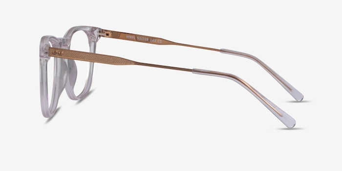 Vinyl Clear Acetate Eyeglass Frames from EyeBuyDirect, Side View