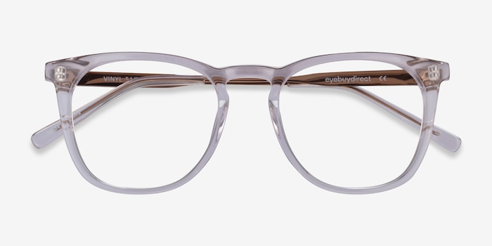 Vinyl Clear Acetate Eyeglass Frames from EyeBuyDirect, Closed View