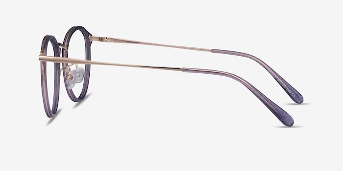 Dazzle Purple Acetate-metal Eyeglass Frames from EyeBuyDirect, Side View