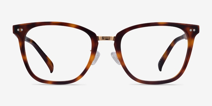 Biblio Tortoise Acetate-metal Eyeglass Frames from EyeBuyDirect, Front View