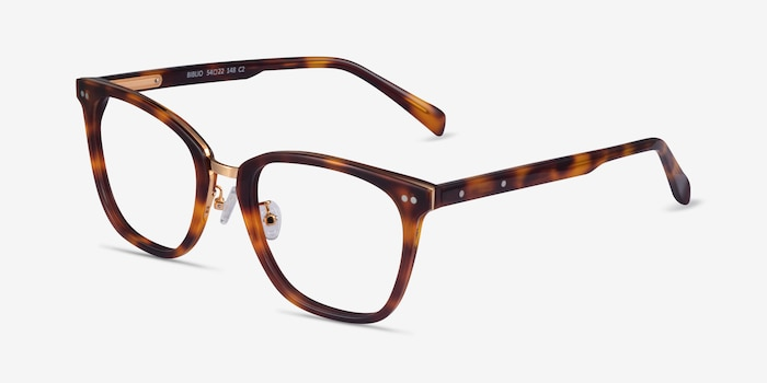 Biblio Tortoise Acetate-metal Eyeglass Frames from EyeBuyDirect, Angle View
