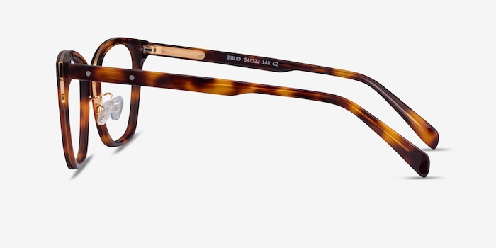 Biblio Tortoise Acetate-metal Eyeglass Frames from EyeBuyDirect, Side View