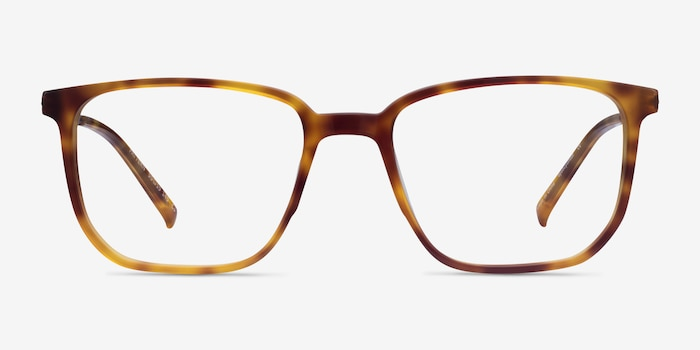 Pattern Tortoise Acetate Eyeglass Frames from EyeBuyDirect, Front View