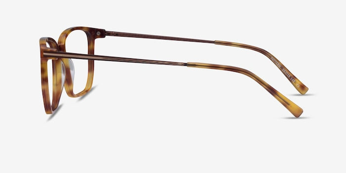 Pattern Tortoise Acetate Eyeglass Frames from EyeBuyDirect, Side View