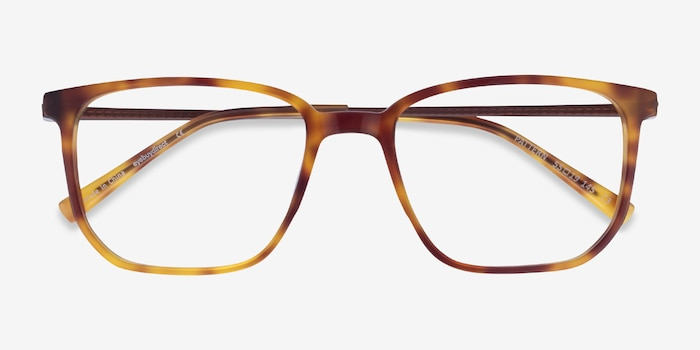 Pattern Tortoise Acetate Eyeglass Frames from EyeBuyDirect, Closed View