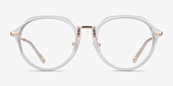 Tamara Clear Yellow Acetate Eyeglass Frames from EyeBuyDirect, Front View