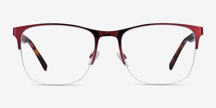 Emmerson Burgundy & Tortoise Acetate-metal Eyeglass Frames from EyeBuyDirect, Front View
