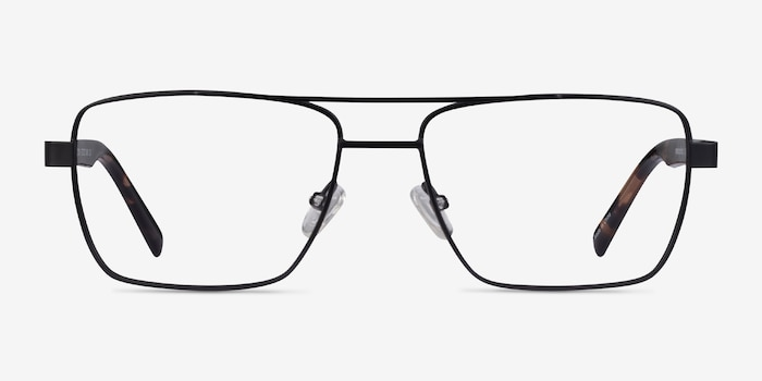 Colton Black & Tortoise Acetate Eyeglass Frames from EyeBuyDirect, Front View