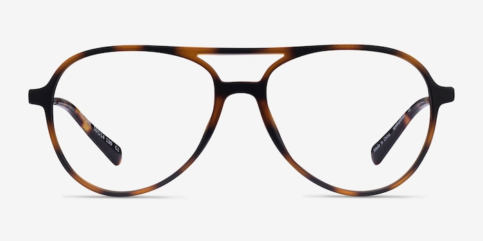 Picture Matte Tortoise   Silver Plastic-metal Eyeglass Frames from EyeBuyDirect, Front View
