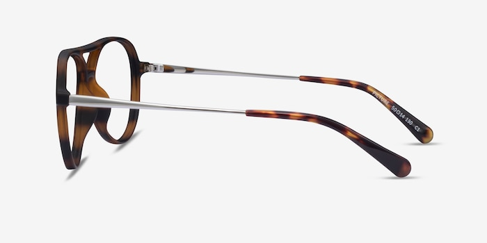 Picture Matte Tortoise   Silver Plastic-metal Eyeglass Frames from EyeBuyDirect, Side View