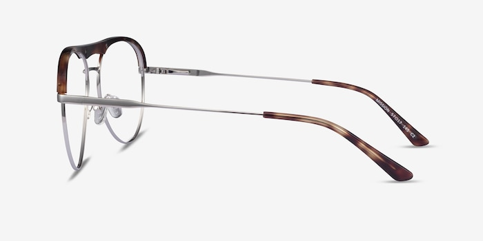 Mission Tortoise & Silver Acetate-metal Eyeglass Frames from EyeBuyDirect, Side View