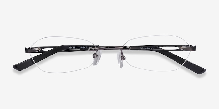 Summer Gunmetal Metal Eyeglass Frames from EyeBuyDirect, Closed View