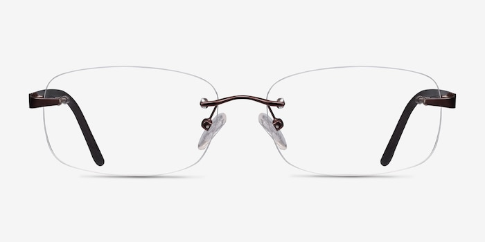 Vernon Brown Acetate Eyeglass Frames from EyeBuyDirect, Front View