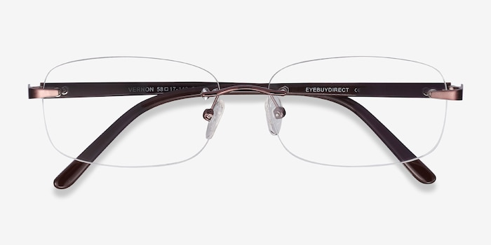 Vernon Brown Acetate Eyeglass Frames from EyeBuyDirect, Closed View