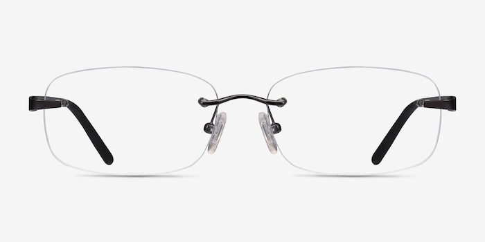 Vernon Gunmetal Acetate Eyeglass Frames from EyeBuyDirect, Front View