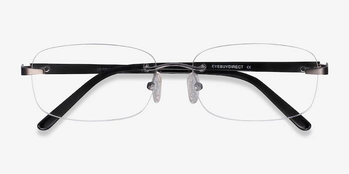 Vernon Gunmetal Acetate Eyeglass Frames from EyeBuyDirect, Closed View