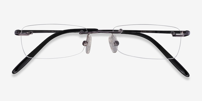 South  Gunmetal  Metal Eyeglass Frames from EyeBuyDirect, Closed View