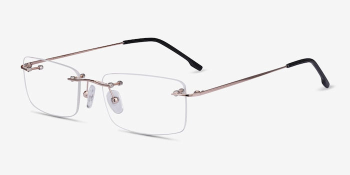 Woodrow  Golden  Metal Eyeglass Frames from EyeBuyDirect, Angle View