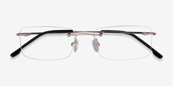 Woodrow  Golden  Metal Eyeglass Frames from EyeBuyDirect, Closed View