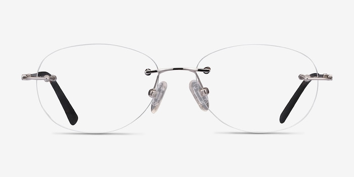 Market Silver Metal Eyeglass Frames from EyeBuyDirect, Front View