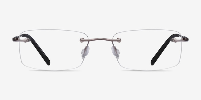 Dimension Gunmetal Titanium Eyeglass Frames from EyeBuyDirect, Front View