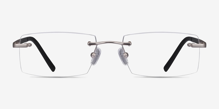 Collector Silver Metal Eyeglass Frames from EyeBuyDirect, Front View