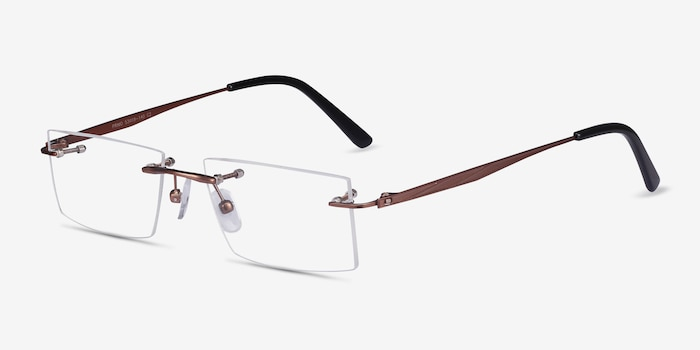 Primo Coffee Metal Eyeglass Frames from EyeBuyDirect, Angle View