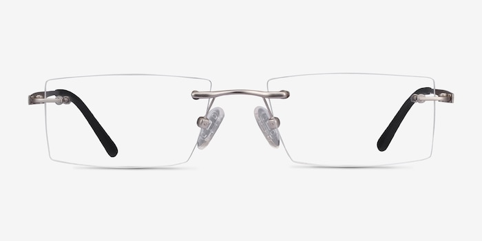 Primo Silver Metal Eyeglass Frames from EyeBuyDirect, Front View