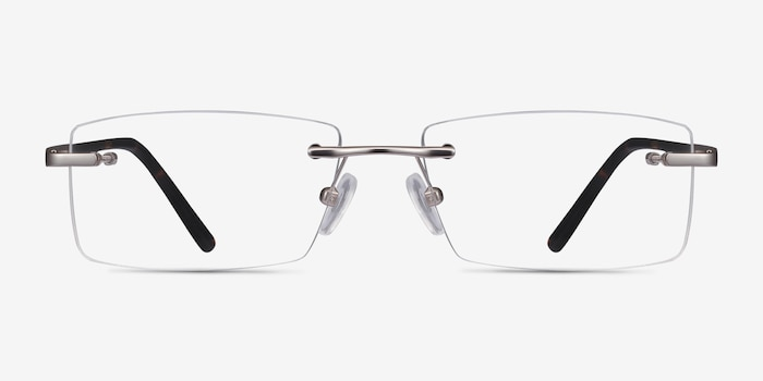 Noble Silver Metal Eyeglass Frames from EyeBuyDirect, Front View