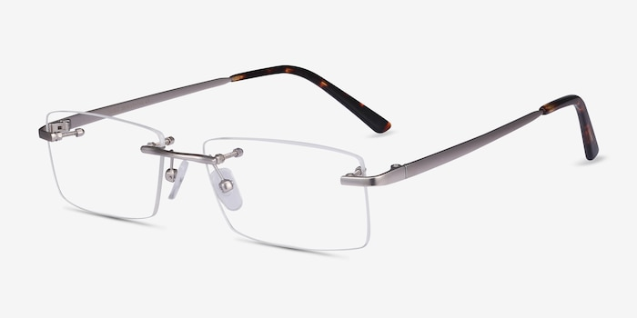 Noble Silver Metal Eyeglass Frames from EyeBuyDirect, Angle View