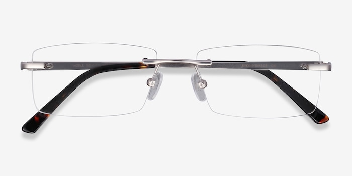Noble Silver Metal Eyeglass Frames from EyeBuyDirect, Closed View