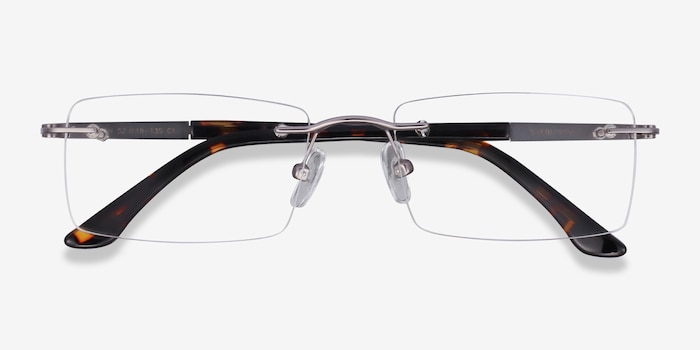 Orion Light Gunmetal Metal Eyeglass Frames from EyeBuyDirect, Closed View