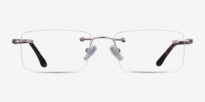 Orion Silver Metal Eyeglass Frames from EyeBuyDirect, Front View