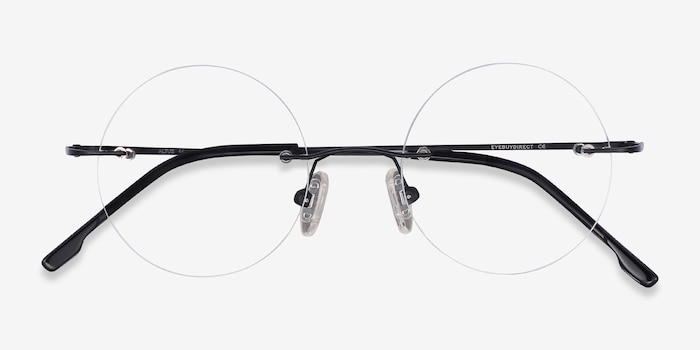 Altus Black Metal Eyeglass Frames from EyeBuyDirect, Closed View