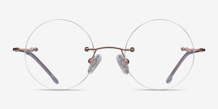 Altus Rose Gold Metal Eyeglass Frames from EyeBuyDirect, Front View