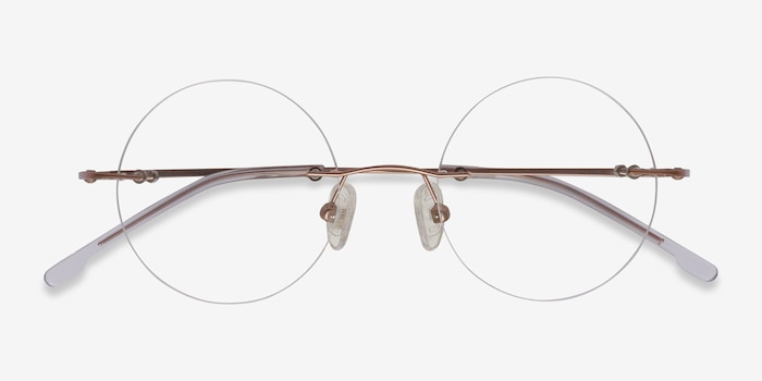 Altus Rose Gold Metal Eyeglass Frames from EyeBuyDirect, Closed View