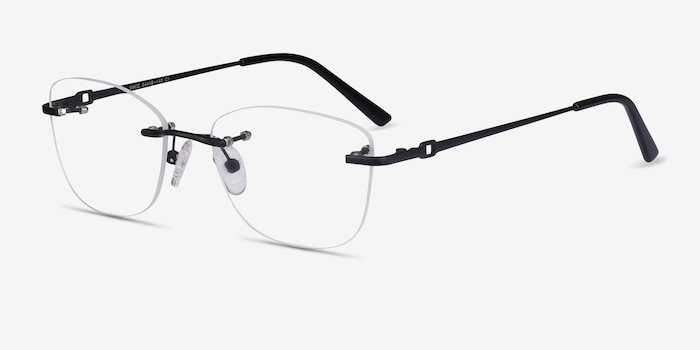 Vince Black Metal Eyeglass Frames from EyeBuyDirect, Angle View