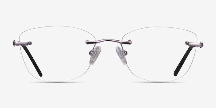 Vince Light Purple Métal Montures de Lunettes d'EyeBuyDirect, Vue de Face