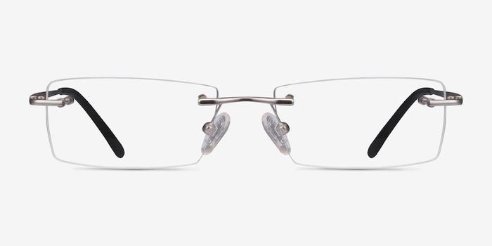 Regis Argenté Métal Montures de Lunettes d'EyeBuyDirect, Vue de Face