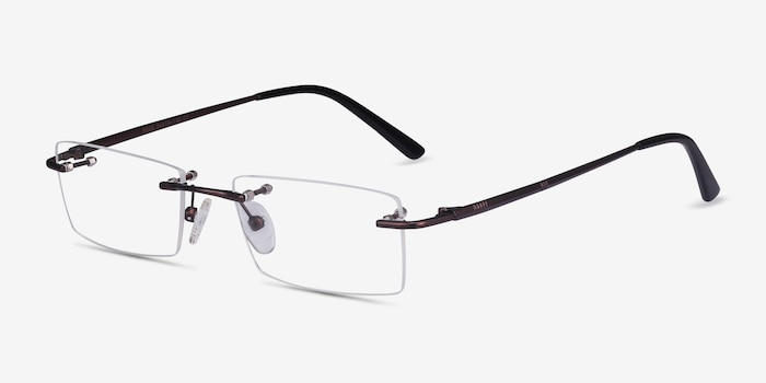 Regis Brown Metal Eyeglass Frames from EyeBuyDirect, Angle View
