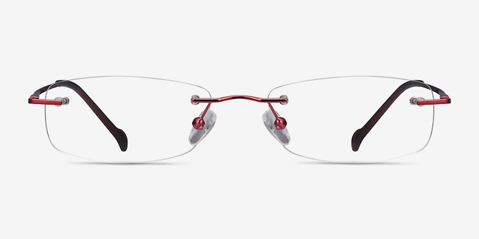 Lithe Cinnamon Red Metal Eyeglass Frames from EyeBuyDirect, Front View