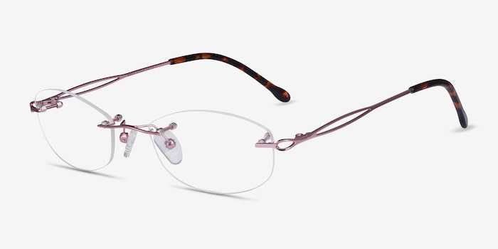 Create Purple Metal Eyeglass Frames from EyeBuyDirect, Angle View