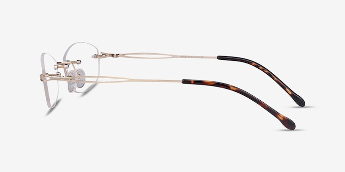 Create Gold Metal Eyeglass Frames from EyeBuyDirect, Side View