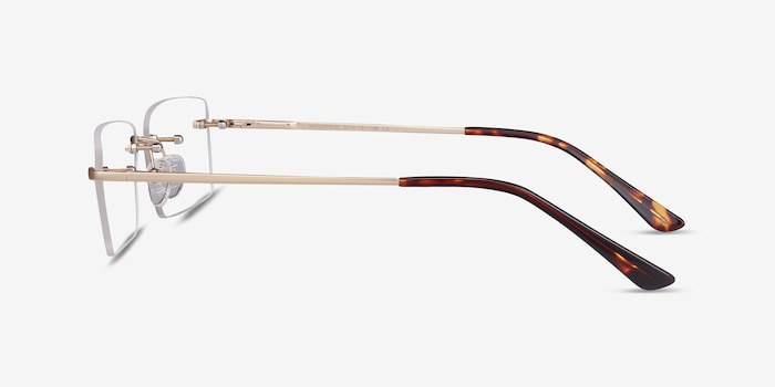 Enterprise Gold Metal Eyeglass Frames from EyeBuyDirect, Side View