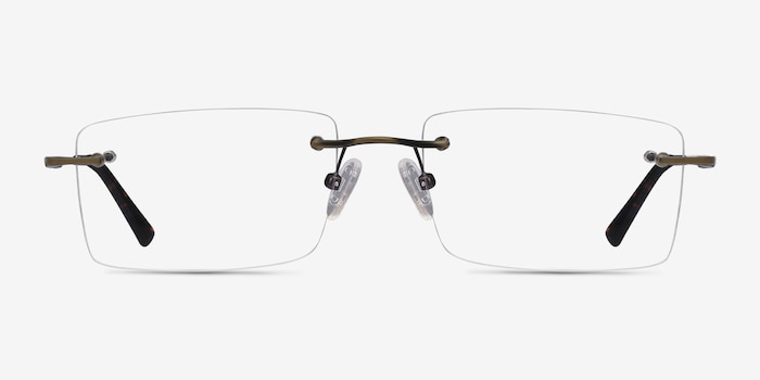 Evolve Bronze Metal Eyeglass Frames from EyeBuyDirect, Front View